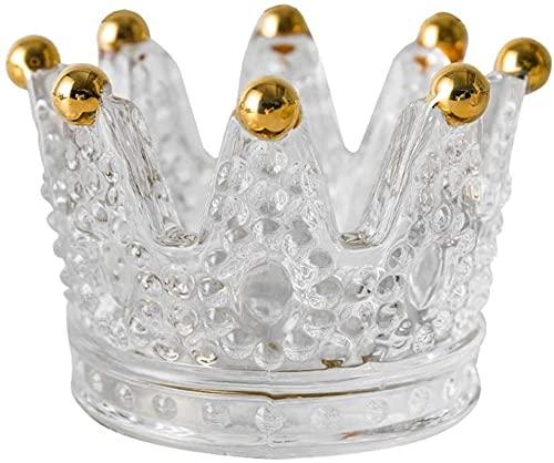 Crown Forma de Cristal Soporte de Vela Mosaico Vela Copa Romántico Cena Candlelight Cena Proporation Decoración Aromaterapia Vela Titular