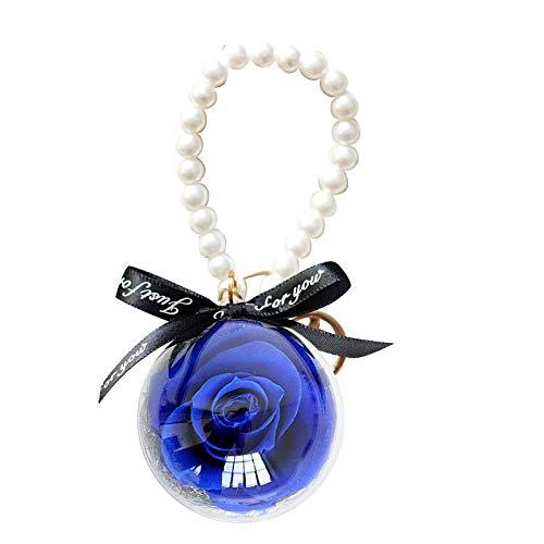 AchidistviQ Regalo para el día de San Valentín para mujeres y niñas, hecho a mano con flores de rosas preservadas, regalo creativo para el día de la madre, aniversario de cumpleaños