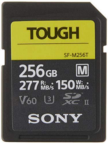 Sony TOUGH-M series SDXC UHS-II Card 256GB, V60, CL10, U3, Max R277MB/S, W150MB/S (SF-M256T/T1)