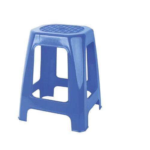 Juypal 335 Tabouret rectangulaire Multifonction Haut 46 x 29 x 26 cm 49 x 29 x 26 cm Bleu