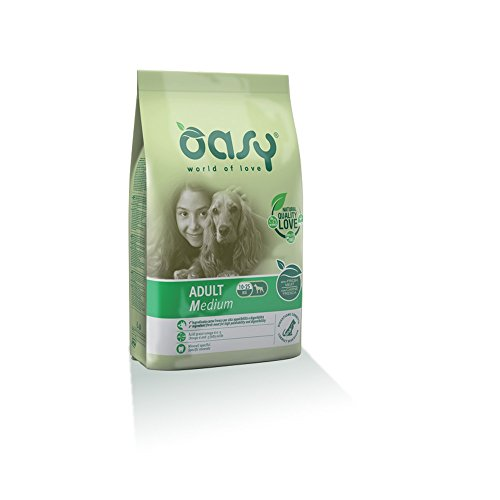Oasy Alimento Secco per Cane Adult Medium 3Kg - Mangimi Secchi per Cani