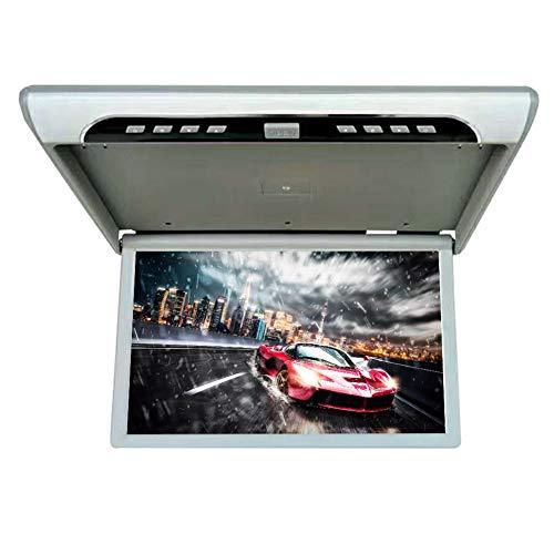 CAPTIANKN Affichage de Plafond de Voiture pour Tous Les modèles de 19-inch HD moniteurs LCD, Fonction HDMI,Gray