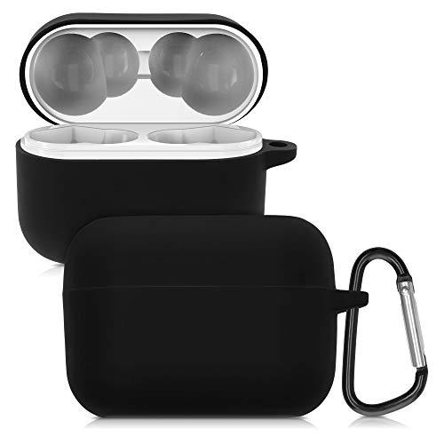 kwmobile Schutzhülle kompatibel mit Honor Choice X1 - Hülle Kopfhörer - Silikon Hülle Cover Schwarz