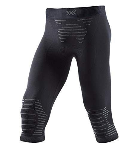 X-Bionic Herren Invent 4.0 Pants 3/4 Men Sporthose, Laufhose, Fitnesshose, Trainninghose, Jogginghose Baselayer Für Männer, Black/Charcoal, XL