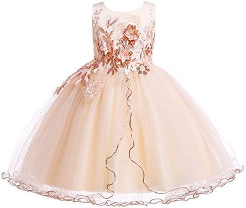 Weileenice Halloween Kids Big Little Girl Princess Lace Dress Christmas Banquet Wedding Bridesmaid product image