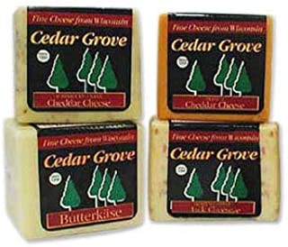 Cedar Grove Quality Cheese Gift Box, Four 1-Pound Packages
