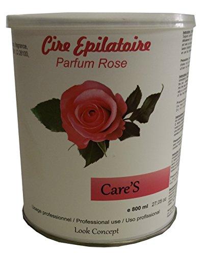 Storepil - Pot cire à épiler jetable CARE'S ROSE - 800 ml pour épilation