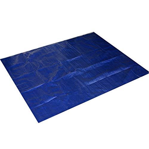 FNKDOR Gartenpool Cover Poolabdeckung UV-beständig Polyethylentuch Poolplane Rechteckig Regensicher Staubdicht 384×185cm/285×185cm/185×150cm (285×185cm, Blau)