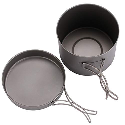 Utensilios de Cocina de Camping Camping COCKETWARE Putas Y PANTENAS Set Mejor DE Mejor DE Mejores para SOMBRIR Picnic Picnic Lighte Lighte PEQUEÑO Cookware de Campamento