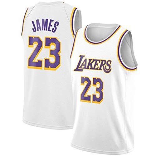 WANLN Camiseta de Baloncesto para Hombre Lebron James # 23 NBA Lakers Bordado niños Hombres fanáticos Camiseta Retro,Blanco,S
