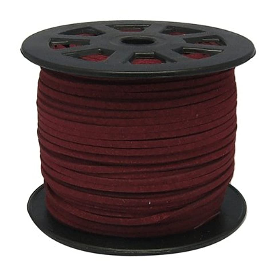 UnCommon Artistry Burgundy Faux Leather Suede Beading Cord (50) sxfifidn1863