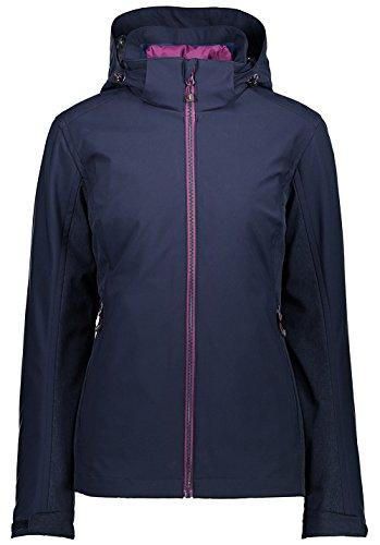 CMP Damen Doppeljacke Jacke, Black Blue, 38