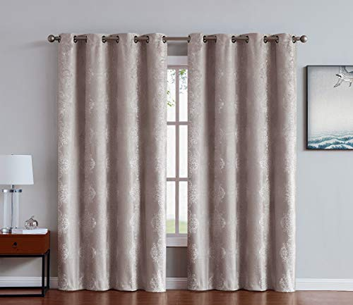 Linen Zone 1 Panel of 100% Black Out Linen Brown Sun Blocking Curtains. Each Total Blackout Bedroom Curtain is 72 Inches Long. Elegant Drapes for Kids Room or Living Room. (Roberta 52 x 72 Linen)