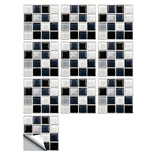 HUANLIAN 20 UNIDS Retro Azulejos Adhesivos Tradicionales DIY Murales Azulejos Calcomanías Extraíbles Impermeables Baño Y Cocina Backsplash Pegatinas Pared A Prueba Aceite,10X10CM D
