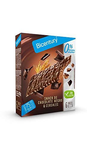 Bicentury - Sarialis - Barritas de Cereales de Chocolate Negro SIN GLUTEN - 6 Barritas