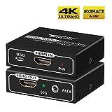 Tendak HDMI Audio Extractor, HDMI zu HDMI + 3,5 mm Audio Adapter, 4K HDMI zu Audio Konverter...