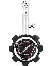 Medidor de presión de neumáticos estándar, manual manual 0-100PSI, medidor de presión de fácil lectura, medidor de presión de neumáticos para automóviles, camiones, motocicletas, paquete de 1