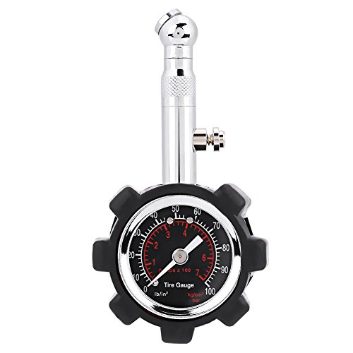 Medidor de Presión para Neumáticos Alta Precisión, Medidor de presión de neumáticos,Manómetro Presión Ruedas para Camión Coche Moto Bicicletas, SUV, RV,0-100PSI