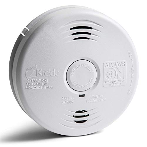 Kidde Smoke and Carbon Monoxide Detector Alarm with Voice Warning | Hardwired w/10 Year Lithium Battery Backup | Interconnectable | Model # i12010SCO, White (3-Pack)