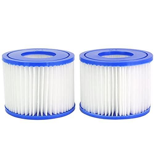 Mallez Ersatzfilter für Bestway Filterpatrone VI für Lay-Z-Spa, Schwimmbad, Whirlpool, BW58323, Miami, Vegas, Monaco, Palm Springs, 2 Filters