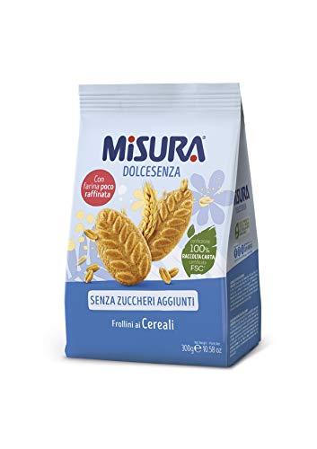Misura Dolcesenza Biscotti ai Cereali | Senza Zuccheri Aggiunti | 2 Confezioni da 300 grammi