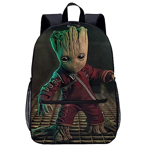 Guardians of the Galaxy Baby Groot Mochilas Mochila universitaria de mochilas con impresión 3D Mochila para portátil College Mochila Mochila informal Mochila de viaje Mochilas escolares de lona