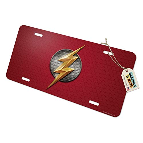 Graphics and More Justice League Movie Flash Logo Novelty Metal Vanity Tag License Plate