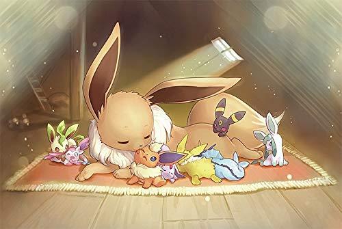 MAYL 1000pcs Erwachsene Kinder aus Holz Pokémon Puzzle Spielzeug, Linde Puzzle, Dekomprimierung Spiel Puzzles (Pokémon No.203)