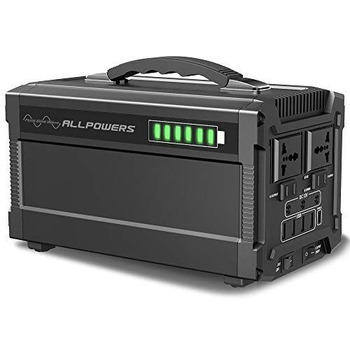 ALLPOWERS Portable Generator 288Wh Power Station Emergency Power Supply with Silent DC/AC Inverter, Charged by Solar Panel/ Wall Outletr for Camping, Home Use, Refrigerator, Outdoor