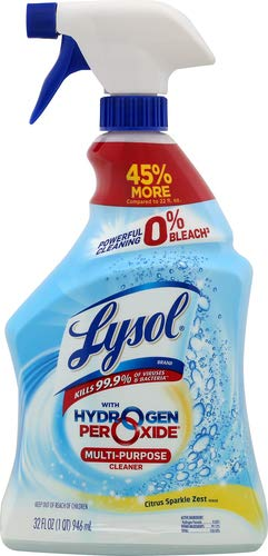 Lysol Multi-Purpose Cleaner, Power and Free, Citrus Sparkle, 32 Fl Oz