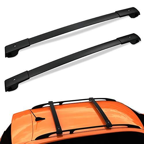 AUXKO Car Roof Racks Cross Bars Compatible for 2014-2021 Subaru Forester / 2013-2019 Crosstrek / 2012-2019 Impreza with Side Rails, Aluminum Rooftop Luggage Crossbars Carrying Kayak Canoe Bike