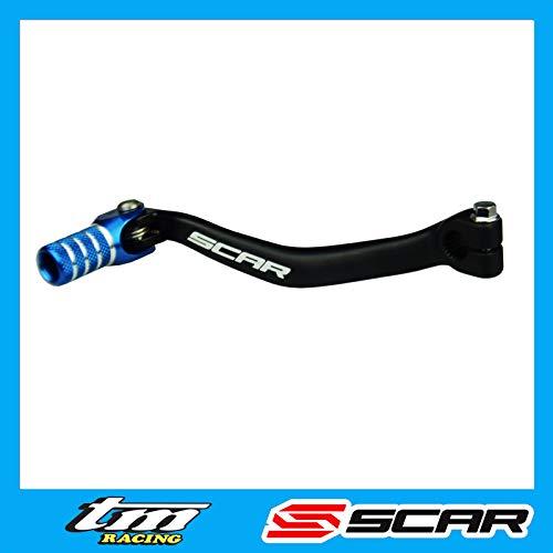 SCAR Leva Cambio in Alluminio Forgiato Compatibile con TM 85 125 144 250 300 450 MX EN FI 2000-2021 - Blu