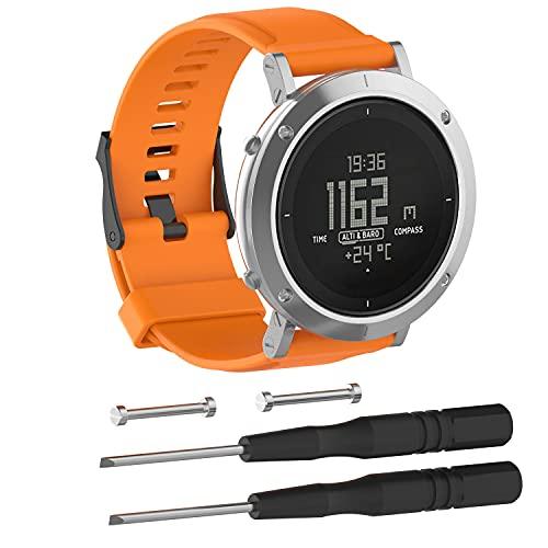 Chainfo Compatible con Suunto Essential Correa de Reloj, Banda de Reemplazo Silicona Suave Sports Pulsera (Pattern 1)