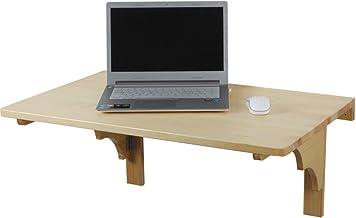 Wubing Drijvende Wandmontage Plank Opknoping muur Massief hout Computer Bureau Opvouwbare Boek Tafel eettafel 3 maten, aan...