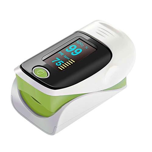 Sauerstoffmonitor Finger, LED-Pulsoximeter Saturators Finger Pulsoximeter, Für Haus, Übung Und Reisegebrauch,Grün