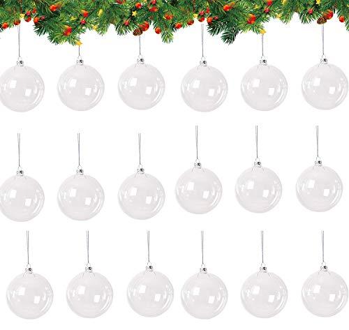 HIQE-FL Natale Palline Albero,Palle Natale Trasparenti Apribili,Ornamenti Albero Natale,Decorazione Natalizia Albero Natale,Fai da Te Decorazioni (B)