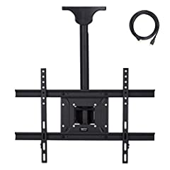 37 to 80 inch television ceiling mount for home or business Built with commercial-grade heavy-duty steel for durability; 100 pound weight capacity Contoured design where the base meets the ceiling provides a clean, stylized look Get the perfect viewi...