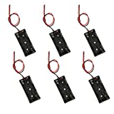 2 x 1.5V AAA Battery Holder Case Box with Red and Black Wire Leads (2AAA-6 pcs)
