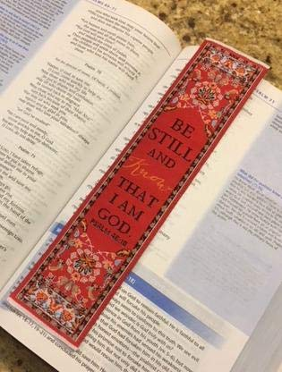 Woven Carpet Bookmark, Be Still and Know That I am God, Psalm 46:10