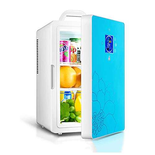 SETSCZY Mini Refrigerator for Drinks Room 2 in 1 Noiseless Small Drinks Cooler Retro Silent 16L with Temperature Control (-8 ℃ -65 ℃) Is Suitable for Car And Household