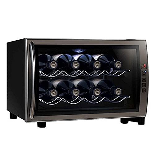 JLKDF Enfriador de Vino, gabinete de Vino de Temperatura Constante, gabinete de Mini Bar para el hogar, dispensador de Bebidas pequeñas, Cerveza y Agua, Bar en casa, oficin