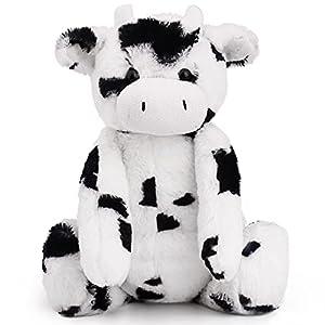 LotFancy Peluche 16.5 Pulgadas (41.91cm), Peluche de Vaca, Peluche de Vaca Suave, Regalo para Niños y Niñas en Cumpleaños, Día de Acción de Gracias, Navidad