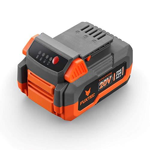 Fuxtec Akku 4Ah 20V E1B4AH Li-Ion Batterie passend 20 Volt Gartengeräte & Werkzeuge– Ladezeit 120 Min