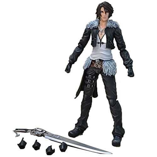 siyushop Dissidia Final Fantasy Play Arts Kai: Squall Leonhart Action Figure - Ausgestattet Mit Waffen Und Austauschbaren Händen - High 28cm (Nicht Originale Version)