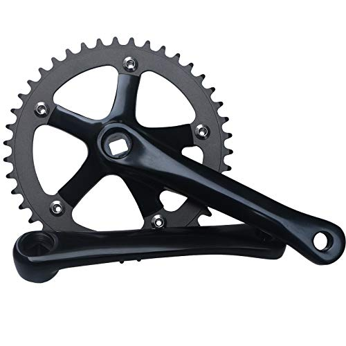 GANOPPER 165mm Single Speed Crankset 42T 130BCD Square Taper Fixie Fixed Gear Bike Crank Set Cycling Fixedgear Conversion Kit