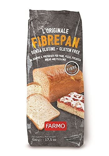 FARMO – FIBREPAN Preparato per Pane, Pizza, Focaccia - Sacchetto da 500g – Senza Glutine (5...