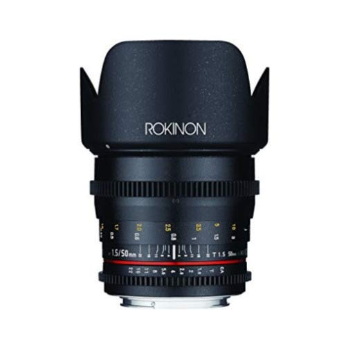 Rokinon Cine DS T1.5 4-Piece Cinema Lens Bundle for Canon EF (24mm, 35mm, 50mm, and 85mm) (4 Items)