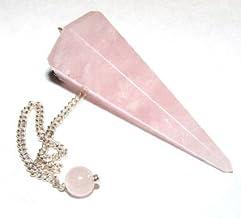 Healing Crystals India Rose Quartz Crystal Dowser/Pendulum