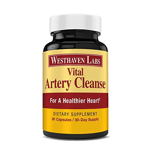 Vital Artery Cleanse Supplement for Heart Health Support, Addresses Age-Related Circulation and Artery Issues. Promotes Clean and Supple Arteries. 30 Day Supply.