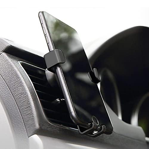4-Ok Soporte Movil Coche, Soporte Telefono Universal para Rejilla de Ventilacion. Ajuste Automatico por Gravedad. Soporte Giratorio de Coche para iPhone, Huawei, Xiaomi, Samsung y mas